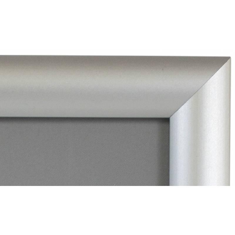 Marco de aluminio sistema clik para 70x100. Incluye protector frontal