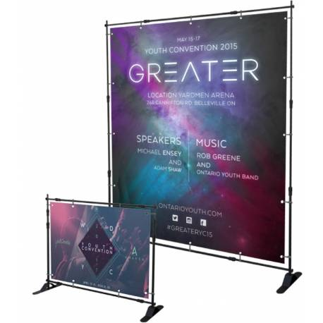 Banner extensible hasta 2560x2580 mm