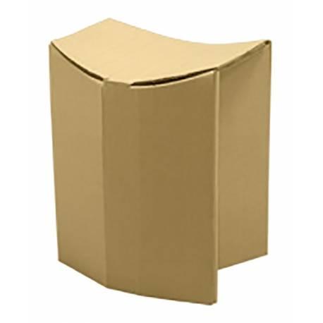 Taburete oval de cartón