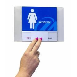 Placa para directorio con corredera ejemplo de uso
