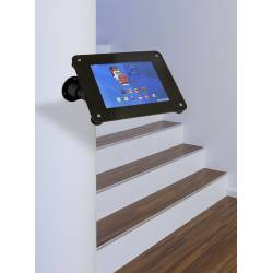 Soporte acrilico de pared o sobremesa para tablet ejemplo de uso
